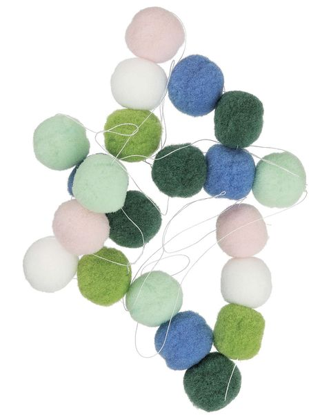 Guirnalda de pompones de colores