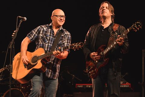 ken block and ryan newell performing in concert with sister hazel