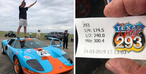 Watch a Ford GT Hit 300.4 MPH in One Mile