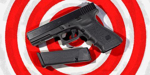 Gun, Red, Trigger, Starting pistol, Airsoft gun,