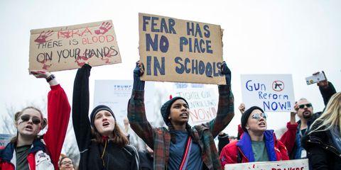 gun reform protest