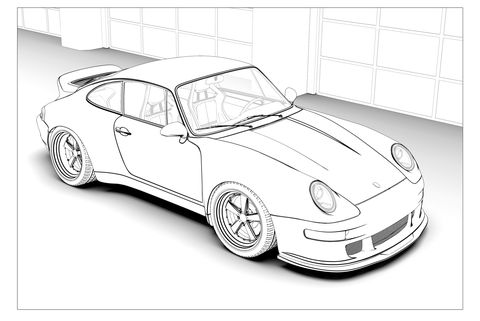 Get Crafty with These Amazing Classic Car Coloring Pages | 321x480