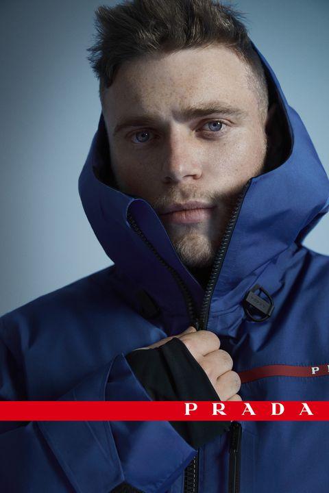 Sleeve, Collar, Jacket, Glove, Black hair, Electric blue, Zipper, Portrait photography, Photo shoot, Top,