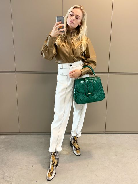 ELLE OOTD - witte jeans