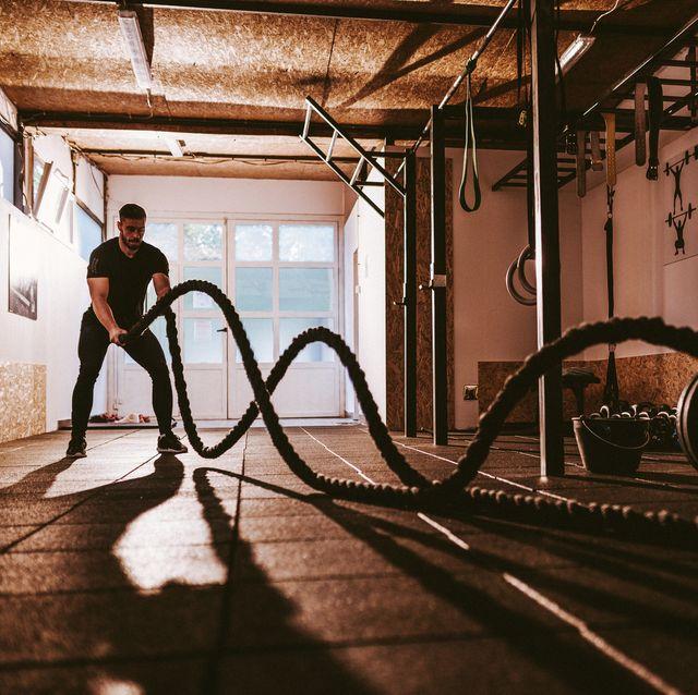 battle rope, ejercicio con cuerdas de cross training