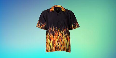 Clothing, Orange, Sleeve, T-shirt, Top, Active shirt, Collar,