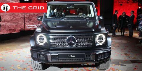 Land vehicle, Vehicle, Car, Mercedes-benz g-class, Motor vehicle, Sport utility vehicle, Grille, Mercedes-benz, Automotive design, Luxury vehicle,