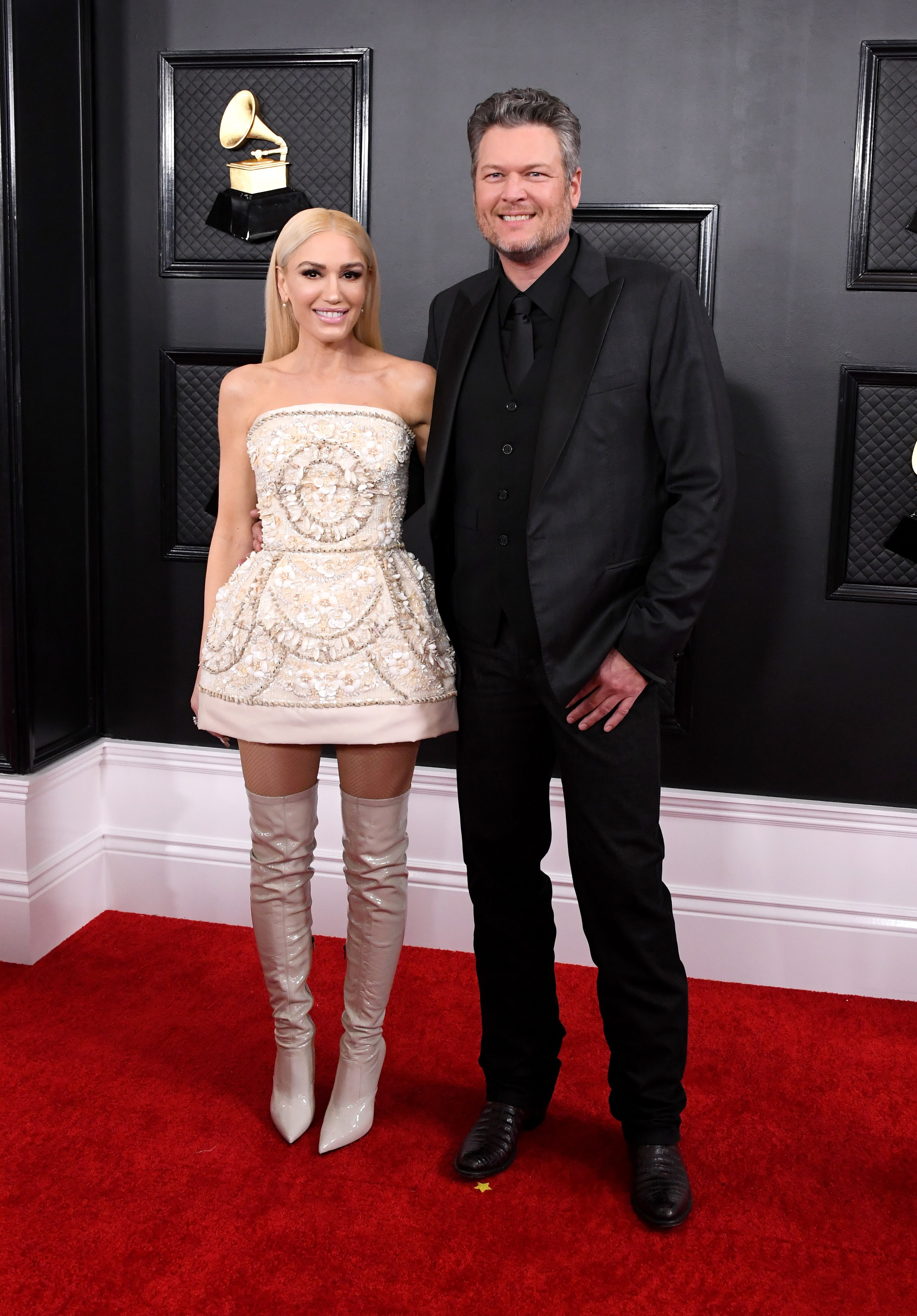 Blake Shelton's Last Name Inspired Girlfriend Gwen Stefani's Grammys Red Carpet Look