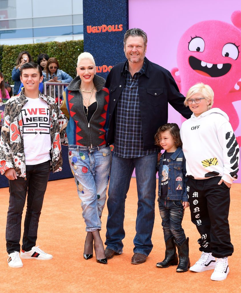 Gwen Stefani Is All Smiles as She Heads Out With Her Children |Gwen Stefani Children