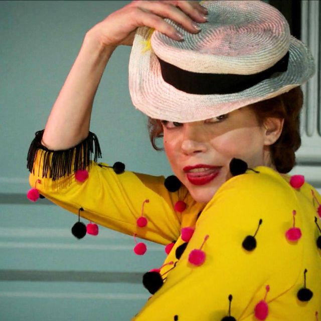 Yellow, Smile, Headgear, Hat, Child, Fashion accessory,