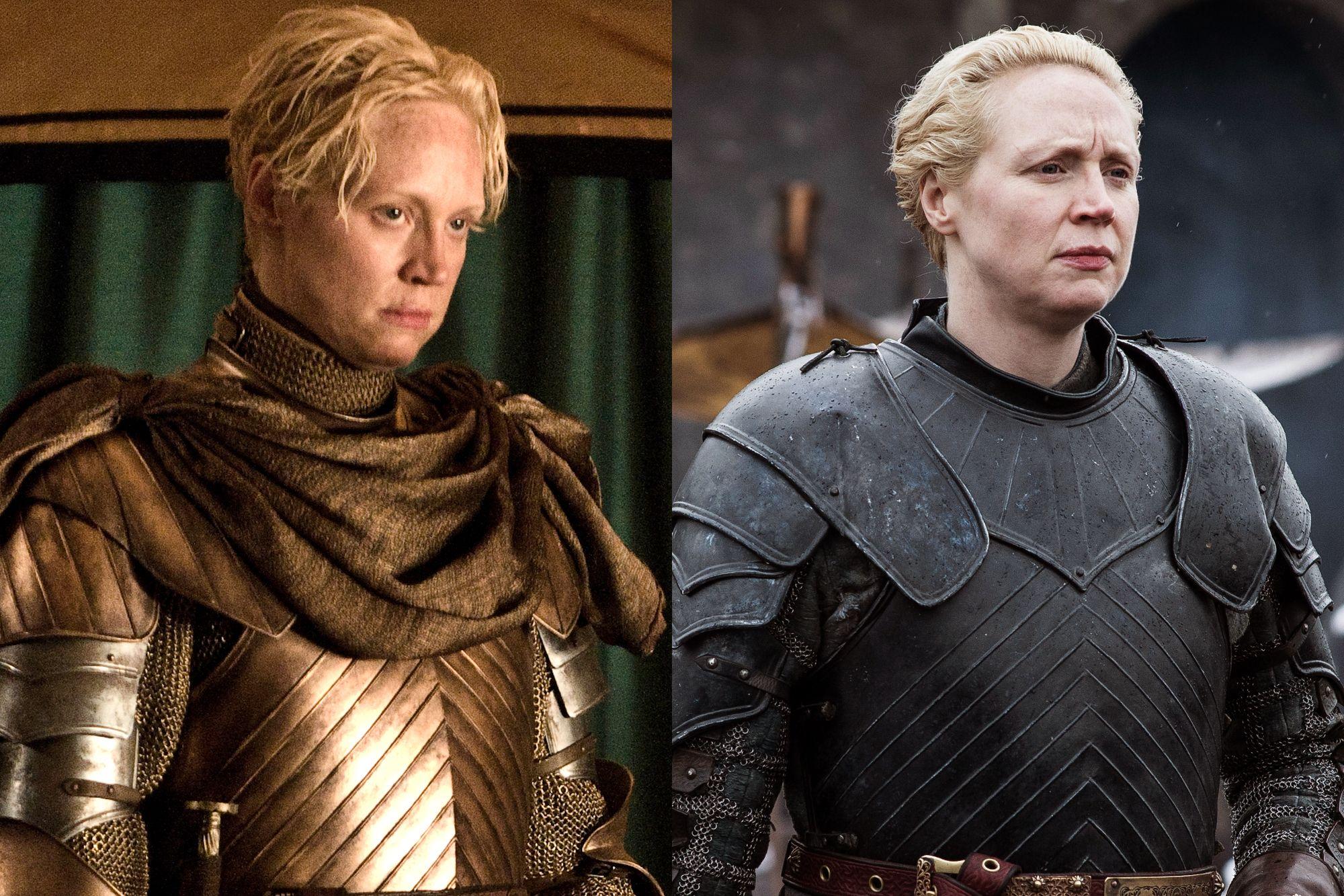 Gwendoline Christie as Brienne of Tarth Season Two to Season Eight.