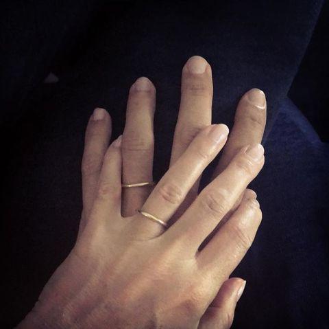 Finger, Hand, Nail, Sky, Gesture, Thumb, Human, Love, Material property, Flesh,