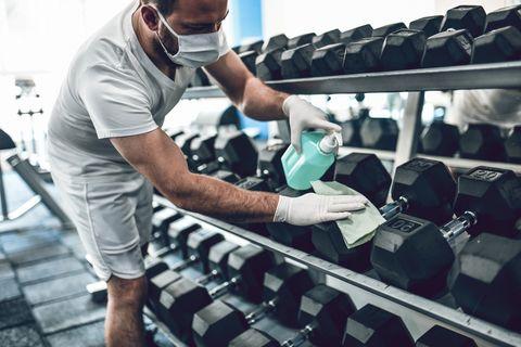 medidas de higiene en el gimnasio