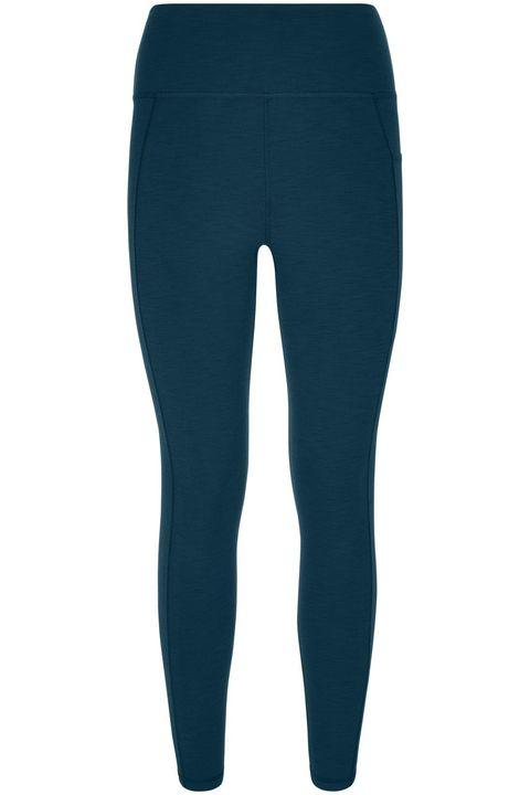 sweaty betty full length leggings in beetle blue colour