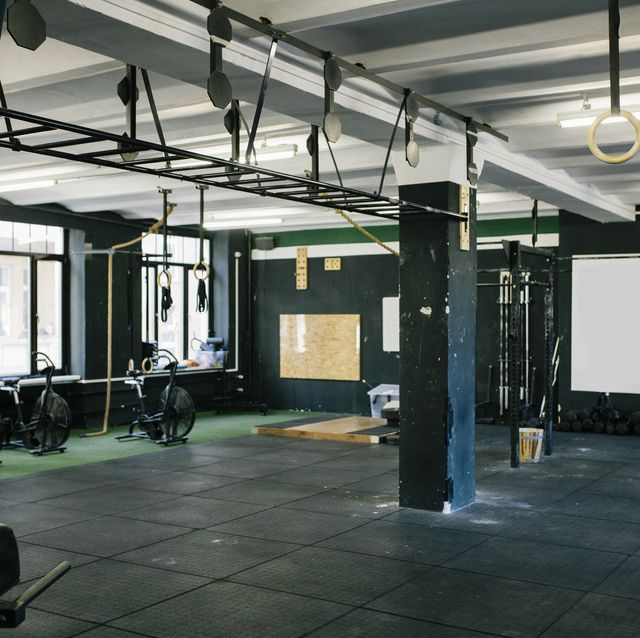 A Gym Scene With Various Equipment