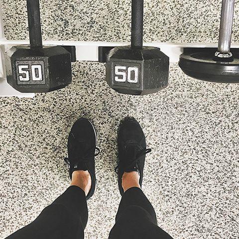 Footwear, Black, White, Shoe, Iron, Black-and-white, Human leg, Joint, Leg, Physical fitness,