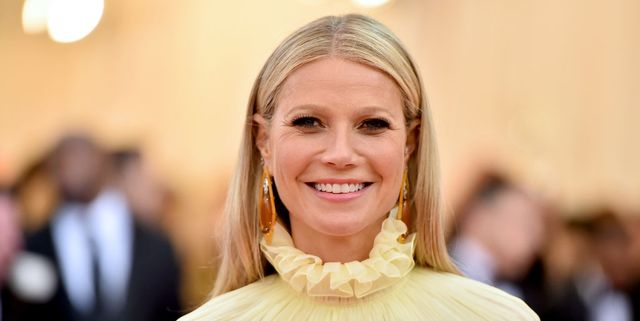 gywneth paltrow in matchende polka dot outfit met dochter apple martin