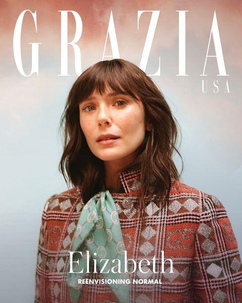 elizabeth olsen on grazia usa's digital cover