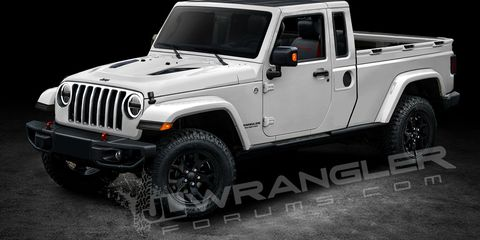 Here S Your First Glimpse Of The Two Door Jeep Wrangler Pickup