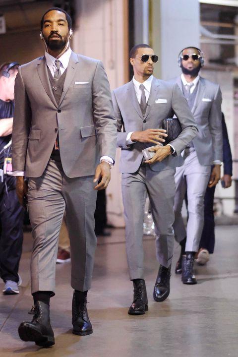2ecc611f0de The Cavs Dressing in Custom Thom Browne Is the Ultimate NBA Style Flex