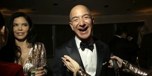Jeff Bezos of Amazon at a Golden Globes afterparty in Los Angeles.