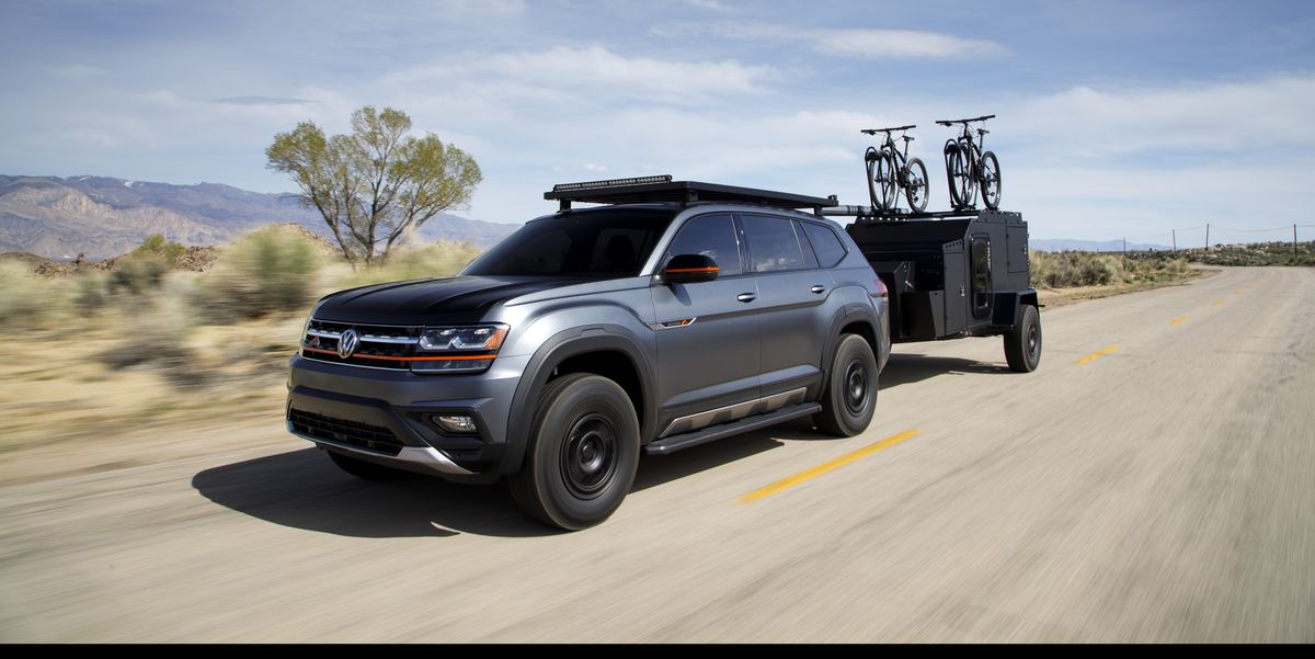 volkswagen atlas basecamp  road version  vws big suv
