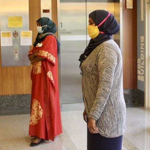 muslim healthcare workers at methodist hospital in saint louis park, minnesota