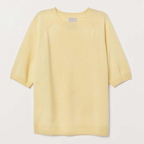 H&M short sleeved cashmere jumper