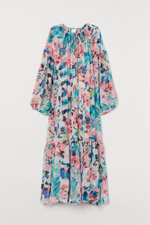H&M floral chiffon dress