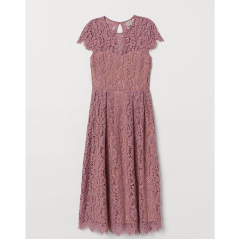 H&M calf length lace dress