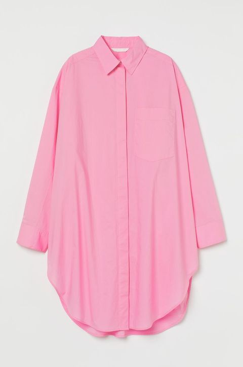 hm lang roze overhemd