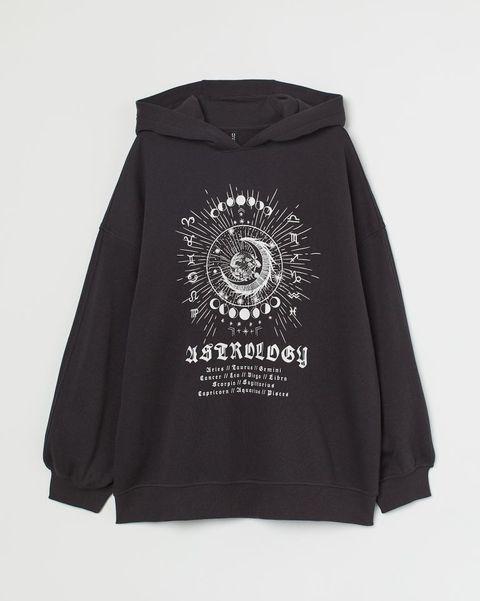 hm oversized hoodie met opdruk
