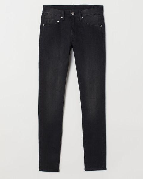 H&M pantalón super skinny, pantalones negros hombre