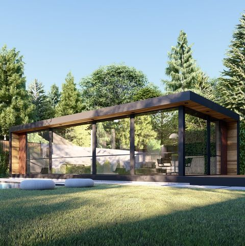 Property, House, Architecture, Home, Pavilion, Building, Grass, Roof, Estate, Real estate,