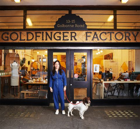 marie cudennec outside goldfinger factory