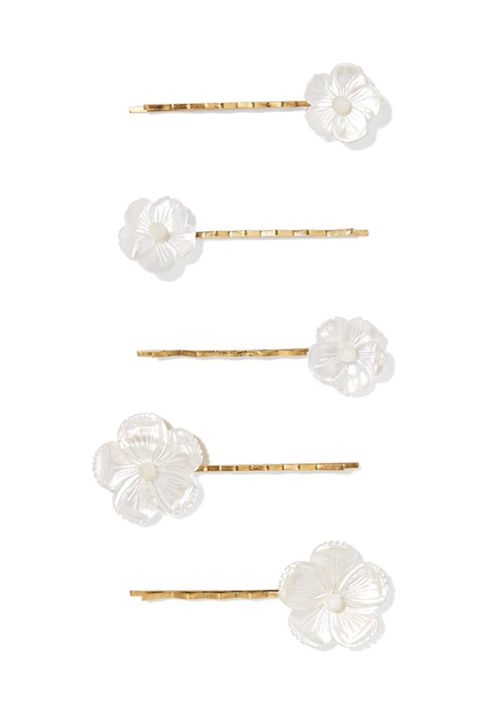 JENNIFER BEHRSet of five gold-tone mother-of-pearl hair slides