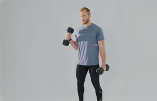 Use the Dumbbell Hammer Curl Form for Brachialis Arm Muscles