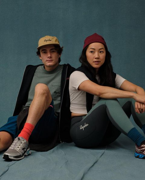 two models wearing the rapha collection