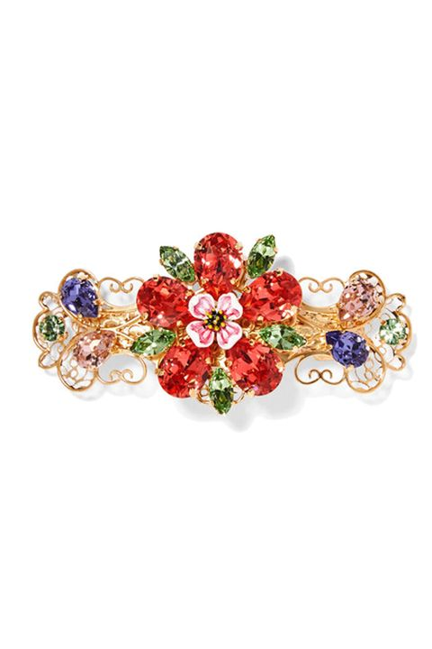 Dolce and Gabbana Gold-tone, crystal and enamel hairclip