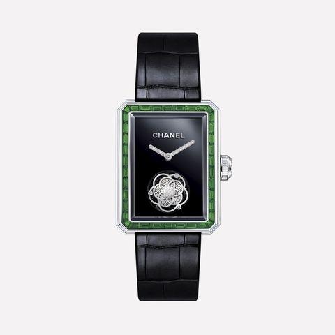 chanel emerald watch