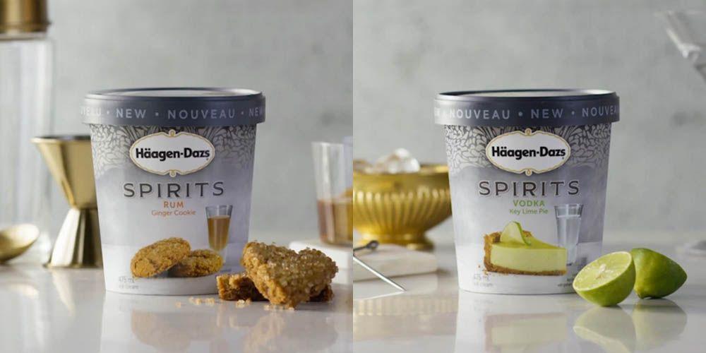 Häagen-Dazs has an entire range dedicated to booze ice-cream