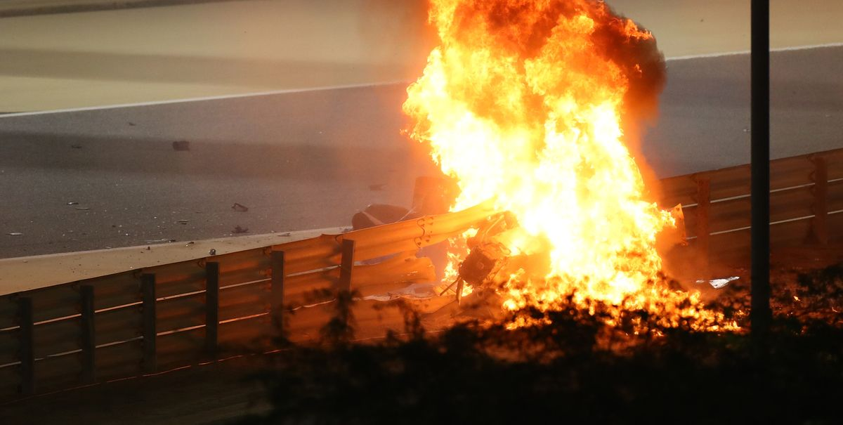 Photos: This F1 escape from a fireball was a miracle