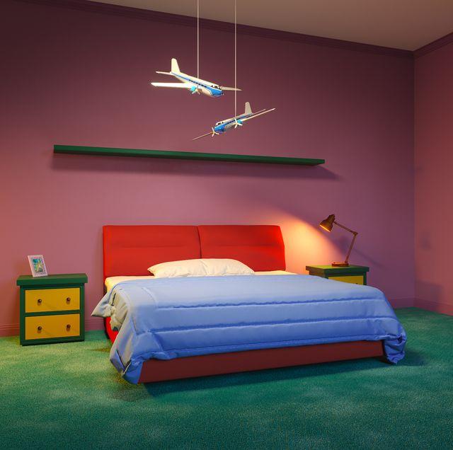 recreación de la habitación de bart simpson