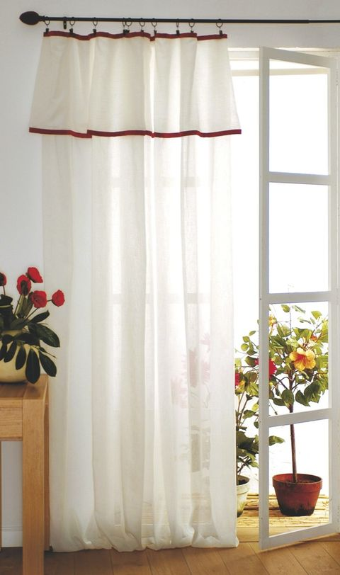 Curtain, Window treatment, Interior design, Red, Textile, Room, Window, Interior design, Window valance, Window covering,