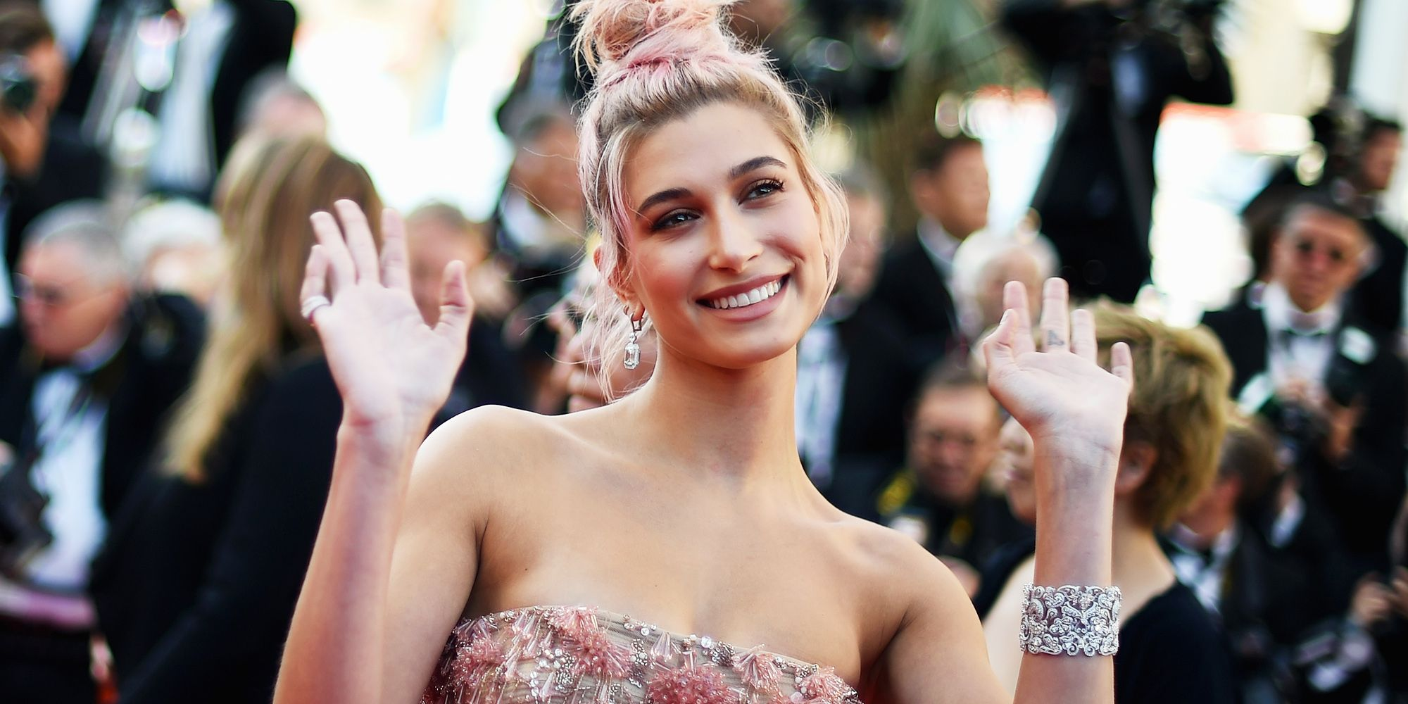 hailey baldwin at the 71st annual cannes film festival