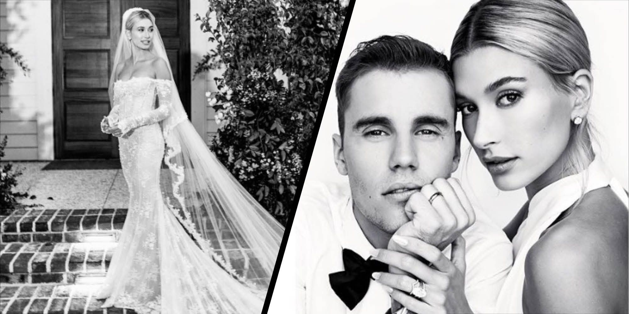 Hailey Bieber gives us a close up look at her wedding dress