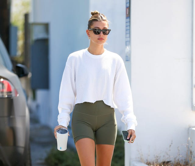 los angeles, ca   june 10 hailey bieber is seen on june 10, 2021 in los angeles, california  photo by bellocqimagesbauer griffingc images