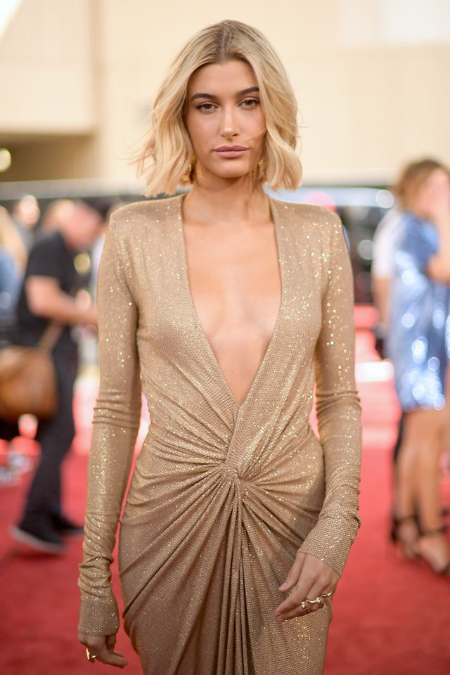 las vegas, nv   may 20  model hailey baldwin attends the 2018 billboard music awards at mgm grand garden arena on may 20, 2018 in las vegas, nevada  photo by matt winkelmeyergetty images for dcp