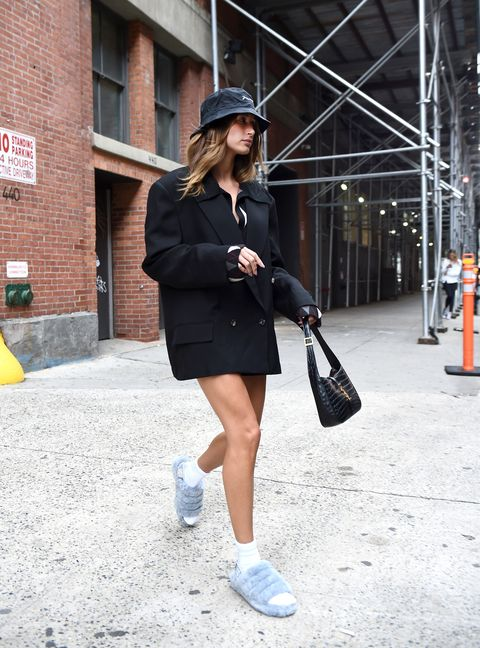 hailey bieber in new york city on september 30, 2021