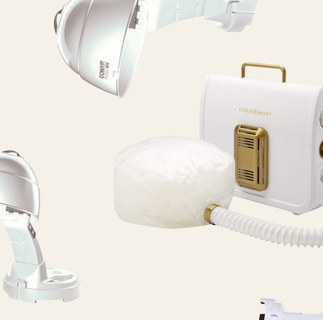 bonnet hair dryers on a white background